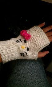 Ravelry: Hello Kitty Mitts pattern by Jo Ryan