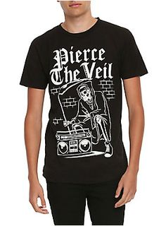 Black T-shirt from Pierce The Veil with b-boy reaper design on front.<ul><li> 100% cotton</li><li>Wash cold; dry low</li><li>Imported</li><li>Listed in men's sizes</li></ul>