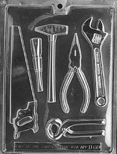 Cybrtrayd Life of the Party Tools Assortment Ea.) Chocolate Candy Mold in Sealed Protective Poly Bag Imprinted with Copyrighted Cybrtrayd Molding Instructions Fourth Birthday, Blue Birthday, 80th Birthday, Birthday Ideas, Candy Making, Mold Making, Little Boy Blue, Construction Birthday Parties, Chocolate Candy Molds