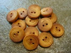 14 Red Wood Tree Branch Buttons.  Just Over 1 by PymatuningCrafts, $8.40