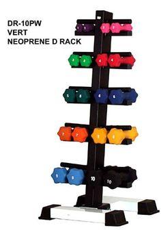 Good Neoprene Dumbbell Set- 10 Pairs w/ Rack