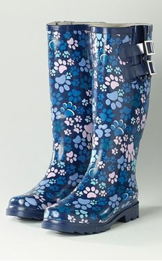 Wet Wellies Navy Paws | Veterinary Apparel
