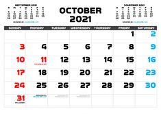 Free Calendar, 2021 Calendar, Calendar Printable, Months In A Year, Resolutions, Free Printables, September, Pdf, Holidays