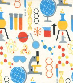 Snuggle Flannel Fabric- Chemistry Things