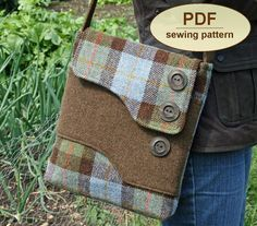 Sewing pattern to make the Melford Messenger Bag - PDF (email delievery)