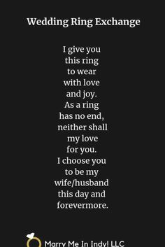 Wedding Ceremony Readings, Wedding Ceremony Script, Wedding Ring, Wedding Vows To Husband, Best Wedding Vows, Wedding Speeches, Vows Quotes, Wedding Vows Examples, Wedding Officiant Script