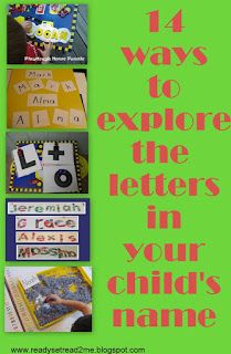 Ready-Set-Read shares 14 ways to introduce young children to letters beginning with their names. Ready-Set-Read is written by a former reading specialist and reading recovery teacher.