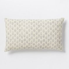 Stamped Mini Dot Pillow Cover - Platinum #westelm. Modern farmhouse, pillow for kitchen barstools