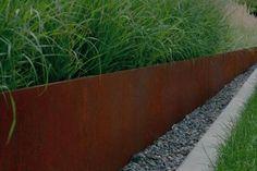 CorTen Steel Edging · Durable Rustic Garden Edging Buy CorTen Steel Edging from Buy Metal Online. Metal Garden Edging, Steel Edging, Garden Borders, Steel Landscape Edging, Landscape Grasses, Garden Border Edging, Patio Edging, Grass Edging, Steel Retaining Wall