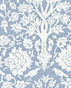 5200 ALBERELLI in aquamarine & white Fortuny Printed Cottons