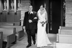 Father walking bride down the aisle - Houston wedding photography - MD Turner Photography