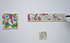 Inchie Puzzles: You just never know how your squiggles will turn out until you start coloring in the shapes.