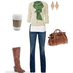 love it all... & i have a kelly green scarf (from Paris) to top this outfit off! Yesss!