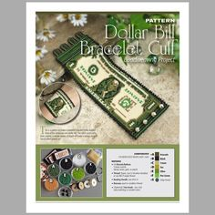 Peyote Beading Pattern : One Dollar Bill Bracelet Cuff O Beads, Seed Beads, Peyote Beading Patterns, One Dollar, Peyote Stitch, Bead Weaving, Cuff Bracelets, Projects, Etsy