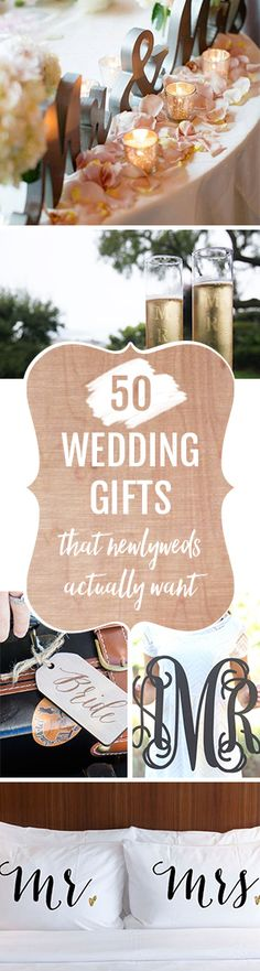 Get the newlywed couple what they really want. From adorable matching pillowcases to perfectly personalized wedding toasters, we've got 50 creative wedding gift ideas for you.