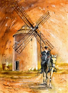 'La Mancha Authentic' von Miki de Goodaboom bei artflakes.com als Poster oder Kunstdruck $33.27