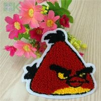 Patches Wholesale  5pc Cartoon Embroidered patches iron on bird patch For Clothes Applique Sew On DIY Garment accessory motif A1