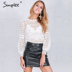 Like and Share if you want this  Simplee Elegant floral lace blouse shirt Women lantern sleeve white blouse 2016 Autumn winter hollow out short top blouse blusas   Tag a friend who would love this!   FREE Shipping Worldwide   Get it here ---> https://dailysale.store/simplee-elegant-floral-lace-blouse-shirt-women-lantern-sleeve-white-blouse-2016-autumn-winter-hollow-out-short-top-blouse-blusas/