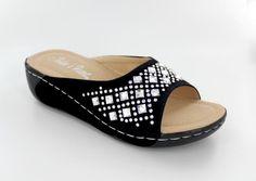 Black Suede Sandal with Crystal Stones www.rhinestonegal.com