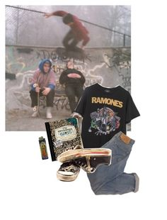 """""""wild in the streets // circle jerks"""" by trashpunk ❤ liked on Polyvore"""