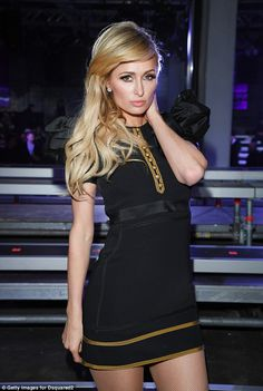 4cf3fb4720c Leggy: Paris Hilton turned heads as she attended the Dsquared2 Fall/Winter  2017/