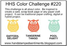 Hand Stamped Sentiments stamping challenge blog: HSS Color Challenge 220