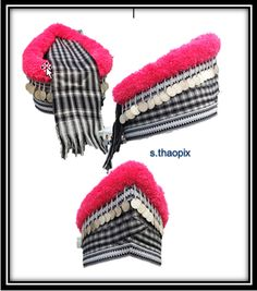 hmong hat Ladies Outfits, New Outfits, Hmong Clothing, Hmong People, Ethnic Bag, Historical Costume, Asian Fashion, Hand Embroidery, Vintage Outfits