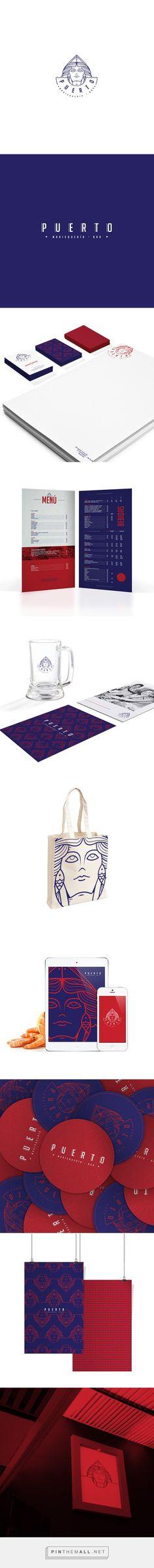 Puerto Marisqueria Bar Branding por Salvador Munca    Agencia de Branding Fivestar - Diseño y la Agencia de Branding & Inspiration Gallery Curada http://jrstudioweb.com/diseno-grafico/diseno-de-logotipos/