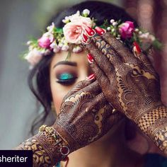Beautiful bridal henna, makeup, and hair! http://amp.gs/p3Wg
