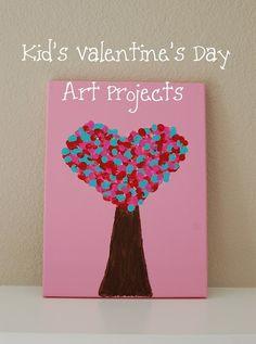 Valentine's Day DIY Craft Ideas for Kids : Valentines Day Handprint Heart
