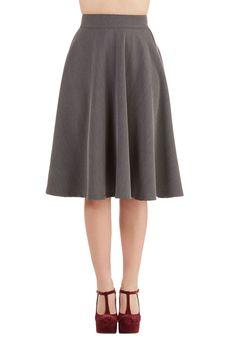 778c98e55b Bugle Joy Skirt in Grey. You hear your friends truck horn outside your  window -