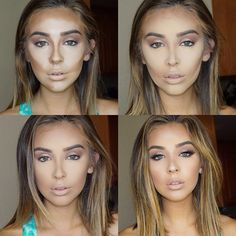 I'm not one for contouring but her end result is pretty