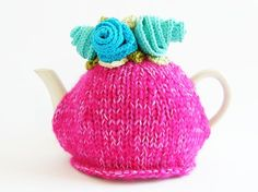 love how bright this tea cozy is. . .too bad it is sold.