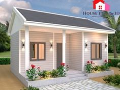 Simple and Elegant Small House Design With 3 Bedrooms and 2 Bathrooms - Ulric Home Single Storey House Plans, One Storey House, Modern Bungalow House Design, Simple House Design, Model House Plan, My House Plans, Building A Small House, One Bedroom House, Two Story House Design