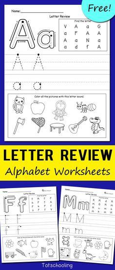 Letter Review Alphabet Worksheets