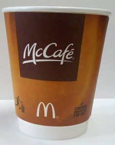 McDonald's testing eco-friendlier coffee cups, thus reinforcing their commitment to destroying our health, not the environment.