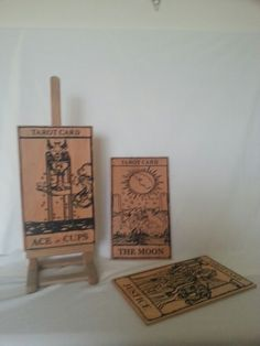 Engraved wooden tarot cards faywoodcrafts