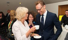 ACTOR Tom Hiddleston kept his hands to himself today when he was reunited with the Duchess of Cornwall three weeks after breaching royal protocol.