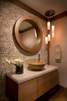 Bathroom sinks, spa like bathroom, wooden bathroom, washroom, bathroom reno Spa Like Bathroom, Guest Bathrooms, Wooden Bathroom, Bathroom Furniture, Bathroom Sinks, Rustic Bathrooms, Bathroom Closet, Luxury Bathrooms, Washroom Design