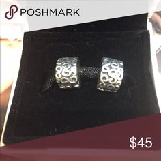 2 Pandora S Clips 2 Pandora S Clip Sterling Silver. Box not included. Pandora Jewelry