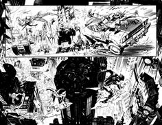 Batman spread by seangordonmurphy