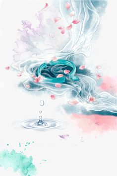 Chinese Artwork, Chinese Painting, Cute Wallpaper Backgrounds, Colorful Backgrounds, Amazing Drawings, Art Drawings, Color Ink, Art Japonais, Water Art