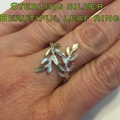 HP  Sterling Silver Beautiful Vine/ Leaf Ring This is a beautiful Sterling Silver Vine/ Leaf Ring. Size is around 8.75. Marked 925. This ring is in excellent condition! Christmas is right around the corner! This would be a perfect gift for that special someone or add to your jewelry collection at a very affordable price! Thanks for stopping by! I appreciate your interest! Have a blessed day! I ship out same day as purchase! Bundle & Save! Check back, adding new things!! Make reasonable offer…