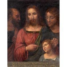 Unbekannter MeisterSzene aus dem Leben Jesu.Öl/Lwd./Holz Russian Art, Mona Lisa, Artwork, Painting, Scene, Auction, Life, Timber Wood, Work Of Art