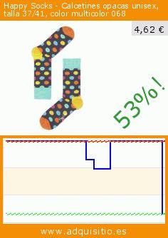 Happy Socks - Calcetines opacas unisex, talla 37/41, color multicolor 068 (Ropa). Baja 53%! Precio actual 4,62 €, el precio anterior fue de 9,90 €. https://www.adquisitio.es/happy-socks/calcetines-opacas-unisex-13