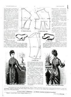 Budapesti Bazár 1877.: Bodice pattern making and measurement taking guide.