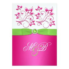 38 Best Pink Green Wedding Invitations Images