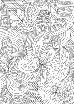 Zentangle Colouring Pages  In The Playroom   detailed adult coloring pages rev 011