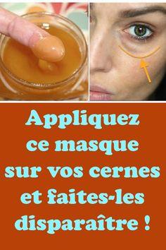Appliquez ce masque sur vos cernes et faites-les disparaître ! Dark Circles, Health And Beauty, Health Fitness, Beautiful Women, Skin Care, Face, Anti Ride, Vaseline, Gym