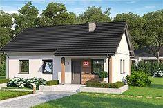 Projekt Dom przy Bukowej 18 65 m2 - koszt budowy - EXTRADOM Village Houses, Home Photo, Home Goods, Nice Houses, Outdoor Decor, Buildings, Home Decor, Photos, Design